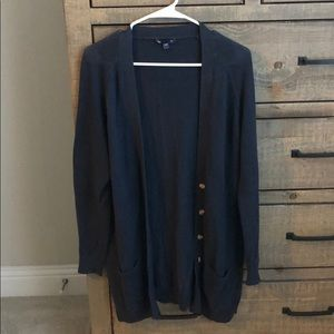 Navy button down cardigan